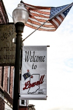 Lowell, Indiana welcome sign